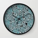 Wildflowers (blue) Wall Clock