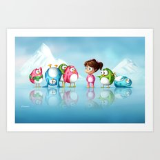 I'm a penguin too ! Art Print