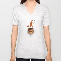 These Burgers Are Crazy | Collage Unisex V-Neck