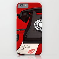 iPhone & iPod Case featuring Late Call  by FlyFreshly