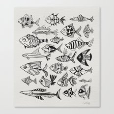 Inked Fish Canvas Print