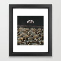 Lunar Campsite Framed Art Print