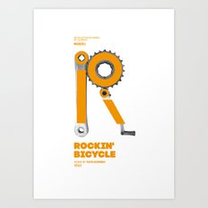 Bike to Life - RockinBicycle Art Print