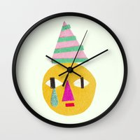 sad face Wall Clock