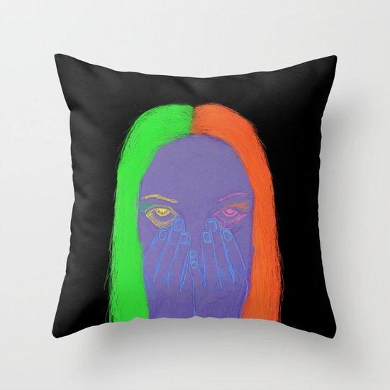 teenage angst Throw Pillow
