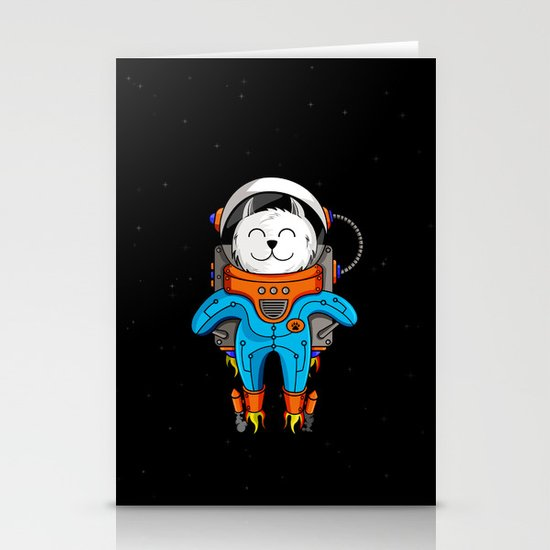 Intercatlactic! to the delicious Milky way!!! Stationery Card