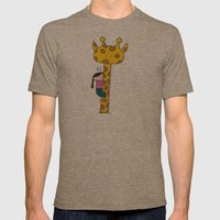 Giraffe Mens Fitted Tee Tri-Coffee SMALL