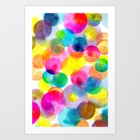 Confetti Paint TWO Art Print