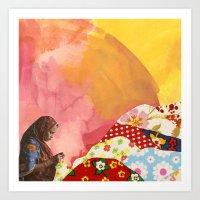 Mending Art Print