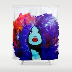 afro color Shower Curtain