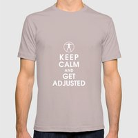 Keep Calm and Get Adjusted (chiropractor) Mens Fitted Tee Cinder SMALL