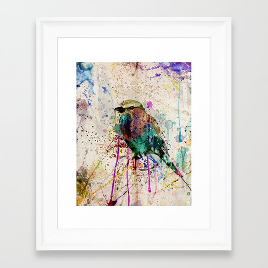 Drippy bird Framed Art Print