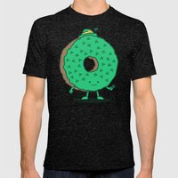 The St Patricks Day Donut Mens Fitted Tee Tri-Black SMALL