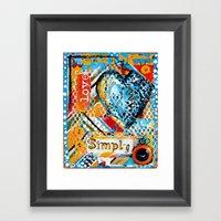 Love, Simply... Framed Art Print