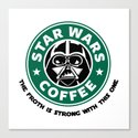 Star Wars Coffee Canvas Print