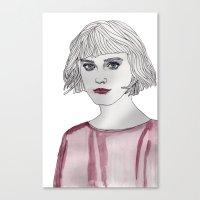 Pastel Girl 3 Canvas Print