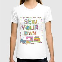 Sew Your Own Womens Fitted Tee White SMALL
