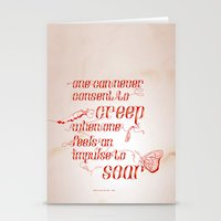 Soar - Illustrated Quote… Stationery Cards