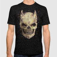 Dark Knight Mens Fitted Tee Tri-Black SMALL