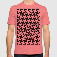 HOUNDSTOOTH SKULL #2 Mens Fitted Tee Pomegranate SMALL