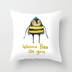 Wana Bee On You! Throw Pillow