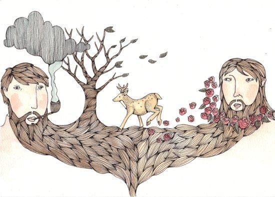 Beard Together Art Print
