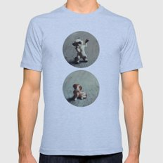 Cats & Dogs Mens Fitted Tee Athletic Blue SMALL