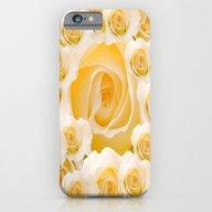 Creamy Peach Rose Abstra… iPhone 6 Slim Case
