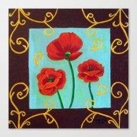 Poppies-4 Canvas Print
