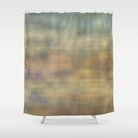 Soft light abstract wicker  Shower Curtain