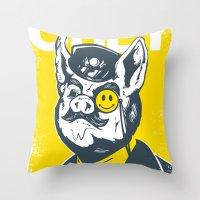 Old Major Throw Pillow