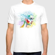 Portrait One Mens Fitted Tee White SMALL