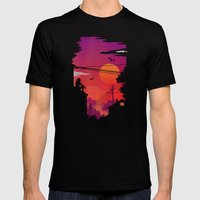 RoofTops Mens Fitted Tee Black SMALL