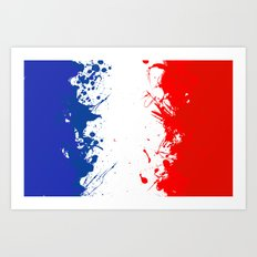 in to the sky, France  Art Print