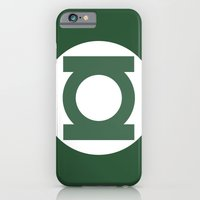 iPhone & iPod Case featuring Green Lantern Vector Logo by The Vector Studio