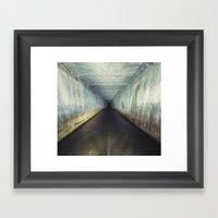 Tunnel of Black Framed Art Print