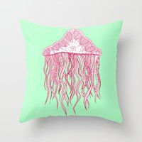 Mint Jelly Throw Pillow