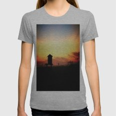 Sunset in Long Beach Womens Fitted Tee Athletic Grey SMALL