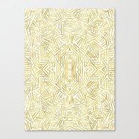 Radiate - Gold Canvas Print
