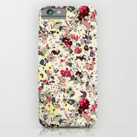 iPhone & iPod Case featuring painted floral by threequalsquare