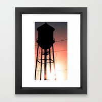 Water Tower Framed Art Print