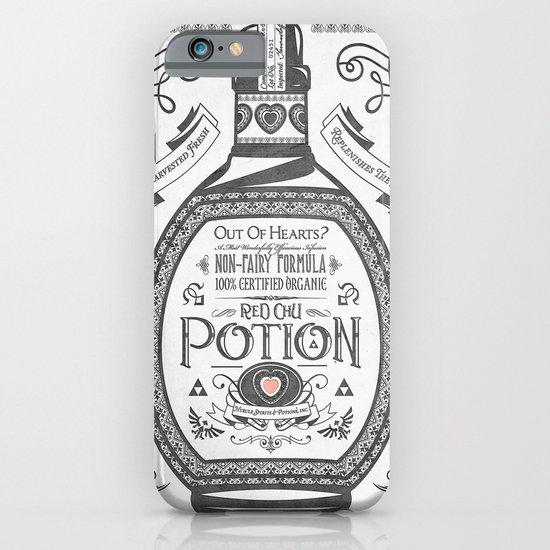 Legend of Zelda Red Potion Vintage Hyrule Line Work Letterpress iPhone & iPod Case