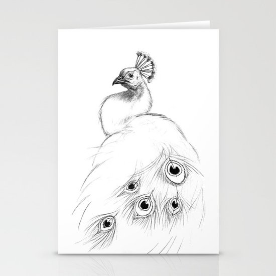 Peacock  SK097 Stationery Card