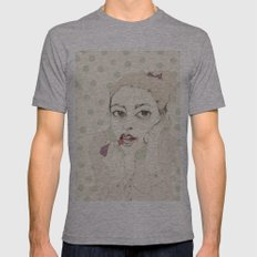 lipstick Mens Fitted Tee Athletic Grey SMALL