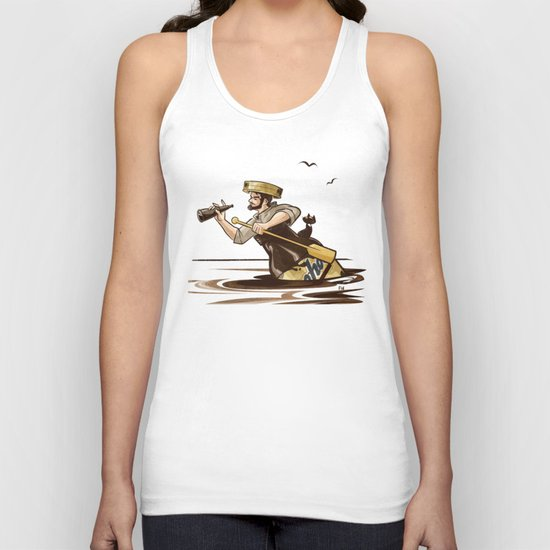 The Long Journey Down the Yoohoo River Unisex Tank Top