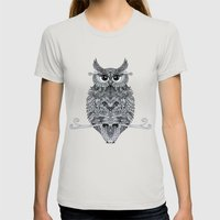 owl Womens Fitted Tee Silver SMALL