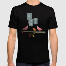 Three Little Birds SMALL Black Mens Fitted Tee
