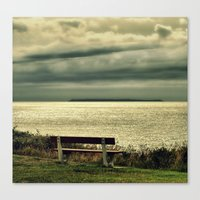 View to Lundy Canvas Print