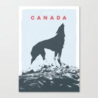 Visit Canada Canvas Print