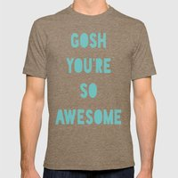 Gosh Mens Fitted Tee Tri-Coffee SMALL